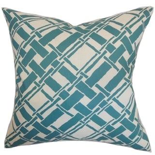 Rygge Bamboo Down Fill Throw Pillow Aqua
