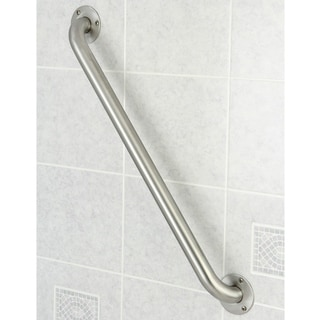 ADA-compliant Decorative 24-inch Stainless Steel Grab Bar