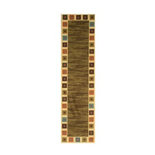 Green Transitional Solid Gabbeh Rug (2'7 x 9'10)