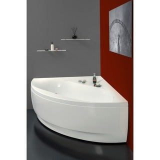 Aquatica Olivia White Acrylic Corner Bathtub
