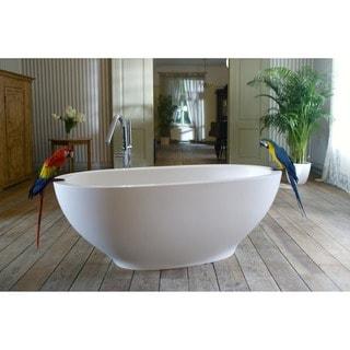 Aquatica Karolina Freestanding Solid Surface Bathtub - Fine Matte