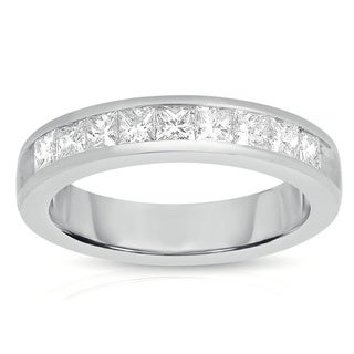 Eloquence 14k White Gold 3/4ct TDW Diamond Band (G-H, I1-I2)