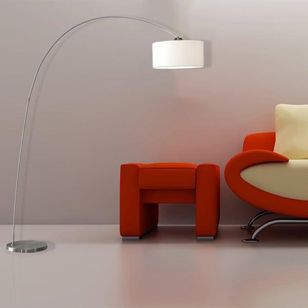 Artiva Usa Adelina Arched Brushed Steel Floor Lamp