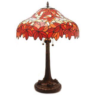 Warehouse of Tiffany Autumn Foliage 2-light Table Lamp