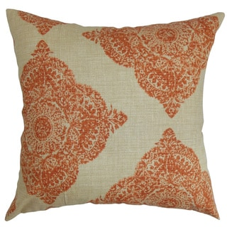 Daganya Damask Terracota Down Filled Throw Pillow