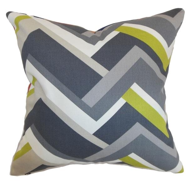 Hoonah Grey Geometric Down Filled Throw Pillow