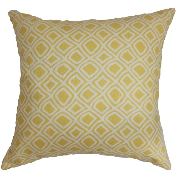 Cacia Geometric Down Filled Throw Pillow Yellow - Free Shipping Today - Overstock.com - 16232581