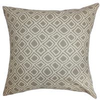 Cacia Geometric Grey Down Filled Throw Pillow