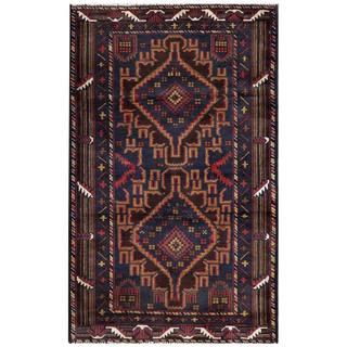 Handmade Herat Oriental Afghan 1960s Semi-antique Tribal Balouchi Wool Rug (Afghanistan) - 2'8 x 4'5