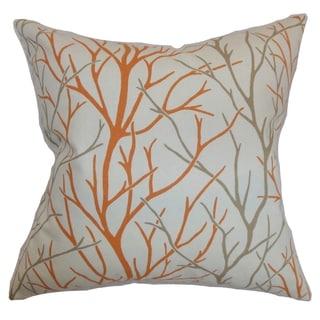 Fderik Trees Tangerine Down Filled Throw Pillow