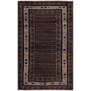 Handmade Herat Oriental Afghan 1960s Semi-antique Tribal Balouchi Wool Rug (Afghanistan) - 2'7 x 4'2