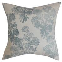 Eara Floral Down Filled Throw Pillow Aqua