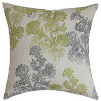 Eara Floral Down Filled Throw Pillow Moss