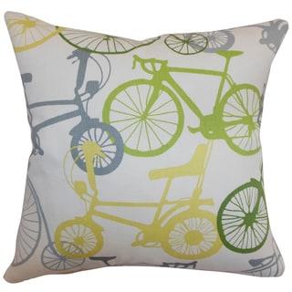 Echuca Bicycles Springtime Down Filled Throw Pillow
