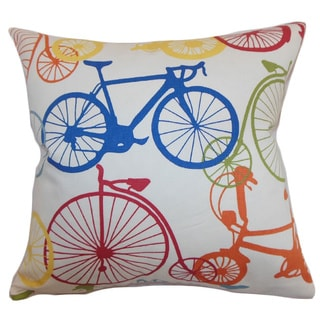 Echuca Bicycles Down Filled Throw Pillow Multi
