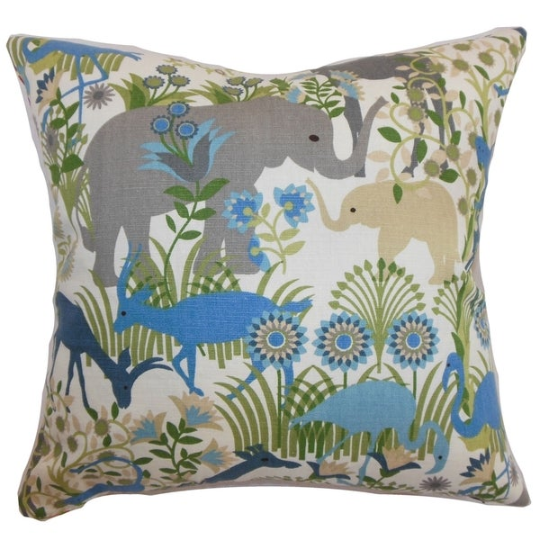 Blue Down Throw Pillows : Caprivi Flora & Fauna Blue Haze Down Filled Throw Pillow - Free Shipping Today - Overstock.com ...