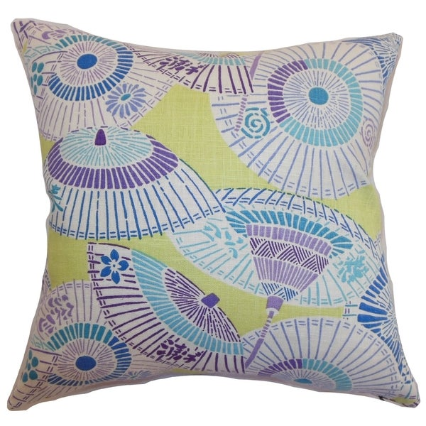 Valkeala Geometric Down Filled Throw Pillow Spring Time