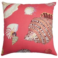 Rayen Coastal Down Filled Throw Pillow Pink