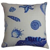 Rayen Coastal Natural Blue Down Filled Throw Pillow