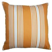 Perri Stripes Down Filled Throw Pillow Orange White
