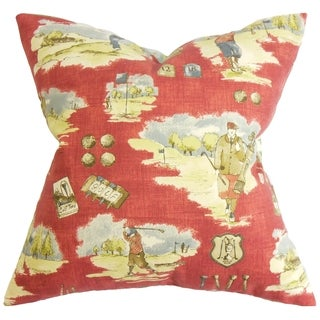 Alfreda Down Fill Throw Pillow Cranberry Red