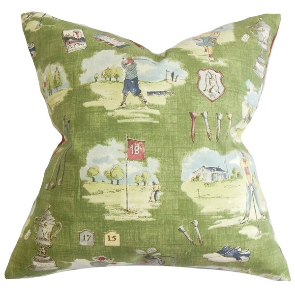 Alfreda Down Fill Throw Pillow Grass Green