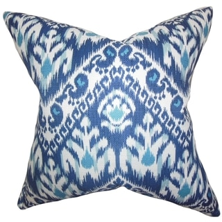 Rafiq Ikat Down Fill Throw Pillow Blue