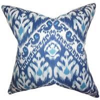 Rafiq Ikat Down Fill Throw Pillow Blue