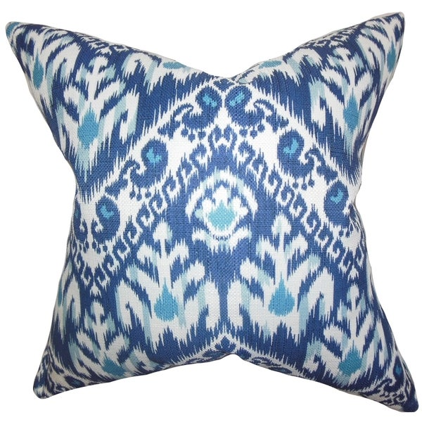 Rafiq Ikat Down Fill Throw Pillow Blue - Free Shipping Today - Overstock.com - 16232681