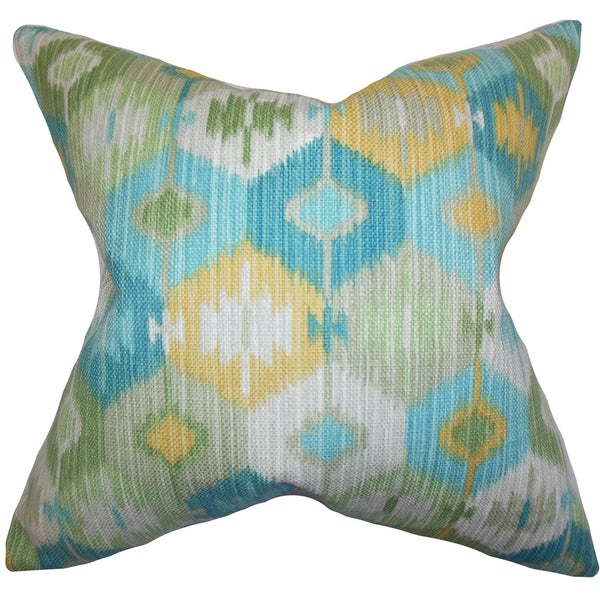 Blue Down Throw Pillows : Sahil Geometric Down Fill Throw Pillow Blue - Free Shipping Today - Overstock.com - 16232682