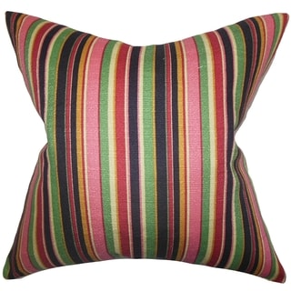 Tait Stripes Down Fill Throw Pillow Pink