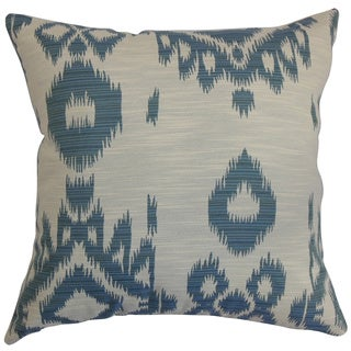 Gaera Ikat Denim Down Filled Throw Pillow