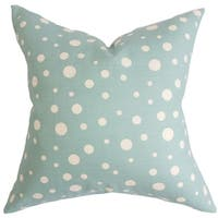Bebe Blue Polka Dots Down Filled Throw Pillow