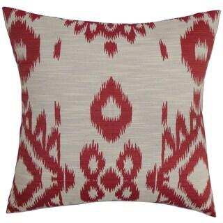 Gaera Pepper Ikat Down Fill Throw Pillow