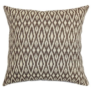 Hafoca Ikat Down Fill Throw Pillow Chocolate