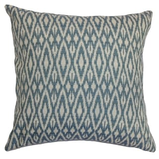 Hafoca Ikat Denim Down Filled Throw Pillow
