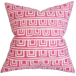 Xabrine Geometric Down Fill Throw Pillow Pink