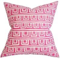 Xabrine Geometric Down Fill Throw Pillow Pink