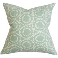 Yowanda Geometric Down Fill Throw Pillow Blue