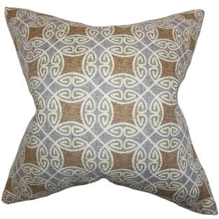 Warren Geometric Down Fill Throw Pillow Silver