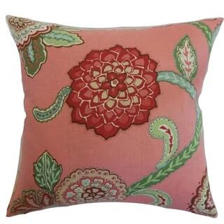 Samarinda Rose Floral Down Filled Throw Pillow