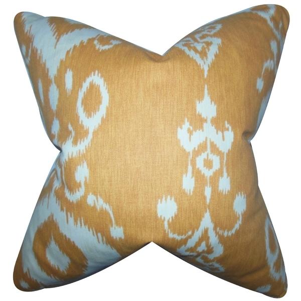 Katti Ikat Down Fill Throw Pillow Amber