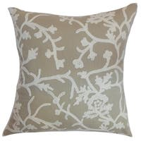 Paksane Floral Down Fill Throw Pillow Pumice