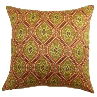 Heihe Poppy Red Paisley Down Filled Throw Pillow