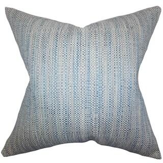 Zebulun Woven Down Fill Throw Pillow Blue