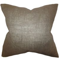 Ellery Gray Solid Down Filled Throw Pillow