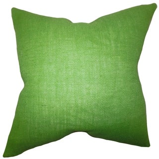 Ellery Apple Green Solid Down Filled Throw Pillow