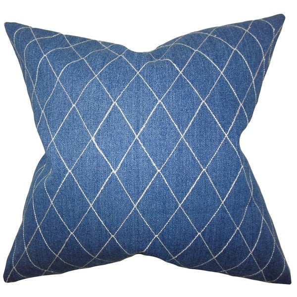 Blue Down Throw Pillows : Aliz Blue Geometric Down Filled Throw Pillow - Free Shipping Today - Overstock.com - 16232773