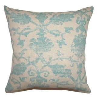 Kabala Turq Floral Down Filled Throw Pillow
