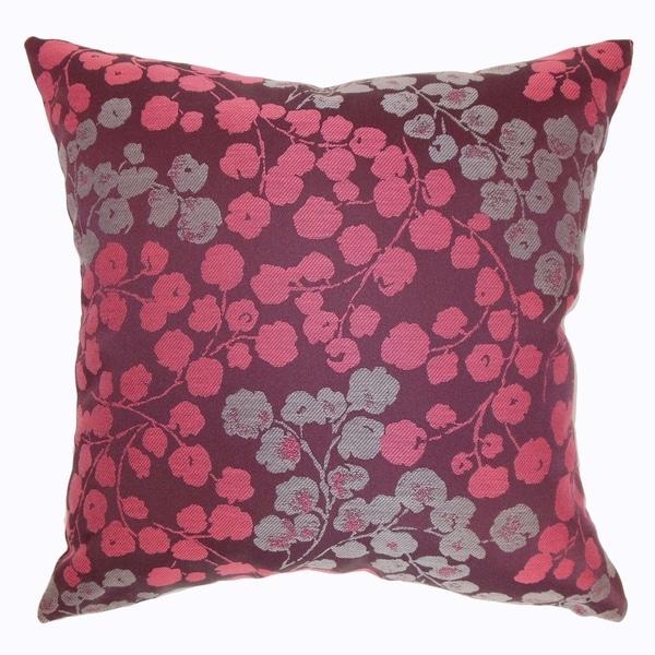 Fleur Bourdeaux Floral Down Filled Throw Pillow